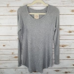 Chaser gray thermal long sleeve tee